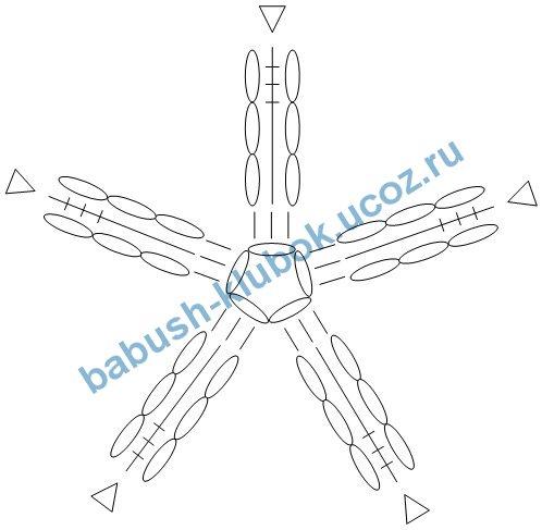 звездочка - схема для вязания