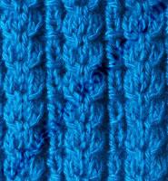 Рельефная резинка для вязания спицами
